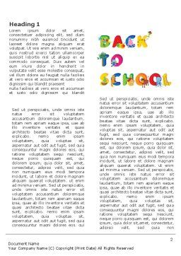Back to School Season Word Template First Inner Page