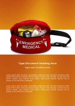 Medical Kit Word Template, Cover Page, 03674, Medical — PoweredTemplate.com