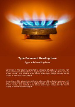 Gas Stove Word Template, Cover Page, 03675, Careers/Industry — PoweredTemplate.com