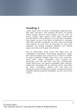Details Word Template, Second Inner Page, 03677, Business Concepts — PoweredTemplate.com
