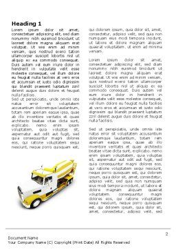 Concrete Mixer Word Template First Inner Page