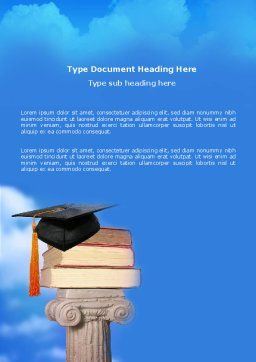 University Education Word Template, Cover Page, 03680, Education & Training — PoweredTemplate.com
