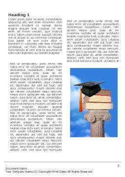 University Education Word Template, First Inner Page, 03680, Education & Training — PoweredTemplate.com