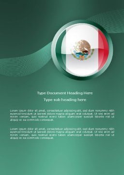 Mexico Word Template, Cover Page, 03681, Flags/International — PoweredTemplate.com