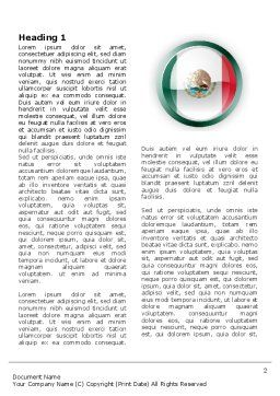 Mexico Word Template, First Inner Page, 03681, Flags/International — PoweredTemplate.com