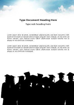Graduates Word Template Cover Page