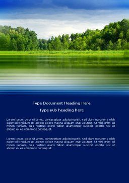Landscape Word Template, Cover Page, 03688, Nature & Environment — PoweredTemplate.com
