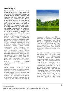 Landscape Word Template, First Inner Page, 03688, Nature & Environment — PoweredTemplate.com