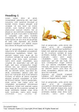 Harvest of Autumn Word Template First Inner Page