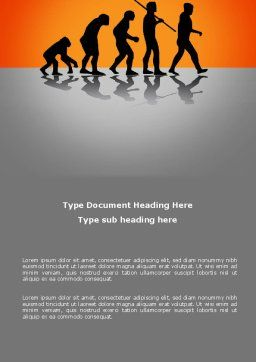 Human Evolution Word Template, Cover Page, 03694, Education & Training — PoweredTemplate.com