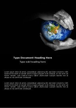 Protect the World Word Template, Cover Page, 03695, Global — PoweredTemplate.com
