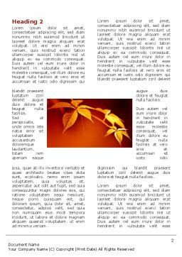 Yellow Leaves On A Yellow Stick Word Template First Inner Page