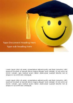Education With Fun Word Template Cover Page