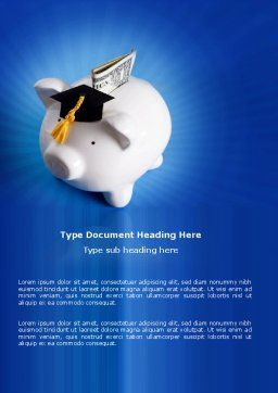 Education Costs Word Template, Cover Page, 03703, Financial/Accounting — PoweredTemplate.com