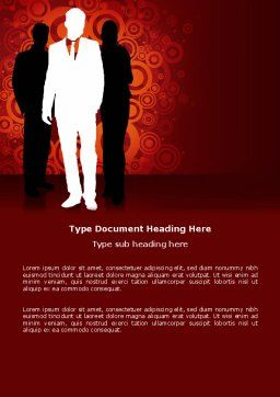 Stylish Look Word Template, Cover Page, 03704, Business — PoweredTemplate.com