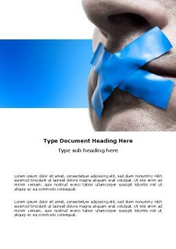 Silence Word Template, Cover Page, 03710, Consulting — PoweredTemplate.com
