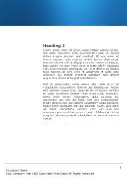Silence Word Template, Second Inner Page, 03710, Consulting — PoweredTemplate.com