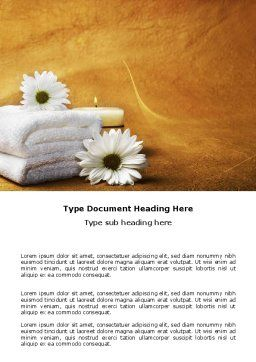 Bath Towels Word Template, Cover Page, 03713, Careers/Industry — PoweredTemplate.com