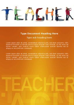 Teacher of Class Word Template Cover Page