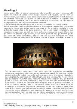 Coliseum Word Template, First Inner Page, 03724, Construction — PoweredTemplate.com