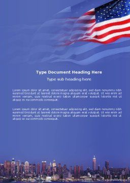 Patriot Day Word Template, Cover Page, 03725, America — PoweredTemplate.com