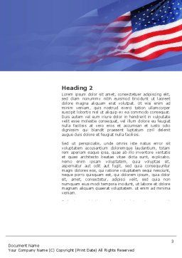 Patriot Day Word Template, Second Inner Page, 03725, America — PoweredTemplate.com