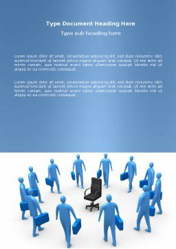 Leader Seat Word Template, Cover Page, 03726, Business — PoweredTemplate.com