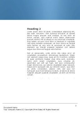 Leader Seat Word Template, Second Inner Page, 03726, Business — PoweredTemplate.com