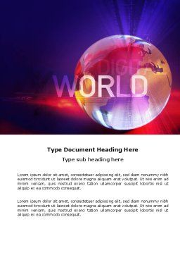 Digital Land Word Template, Cover Page, 03730, Global — PoweredTemplate.com
