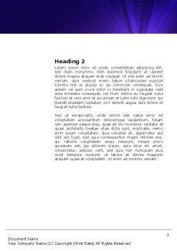Digital Land Word Template, Second Inner Page, 03730, Global — PoweredTemplate.com