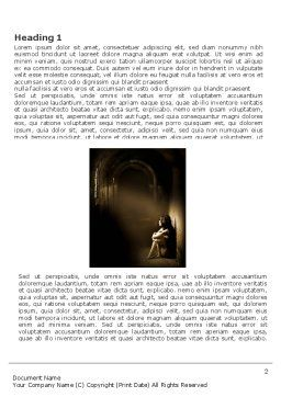 Solitariness Word Template, First Inner Page, 03733, Consulting — PoweredTemplate.com