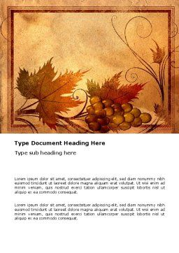 Autumn Theme in Light Brown Word Template, Cover Page, 03734, Agriculture and Animals — PoweredTemplate.com