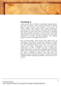 Autumn Theme in Light Brown Word Template, Second Inner Page, 03734, Agriculture and Animals — PoweredTemplate.com