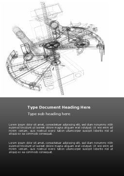 Construction Sketch Word Template, Cover Page, 03740, Construction — PoweredTemplate.com