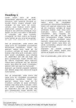 Construction Sketch Word Template, First Inner Page, 03740, Construction — PoweredTemplate.com