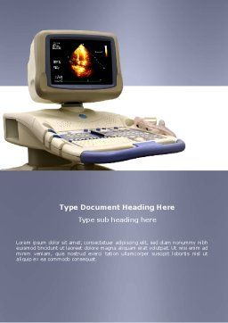 Ultrasound Word Template, Cover Page, 03741, Medical — PoweredTemplate.com