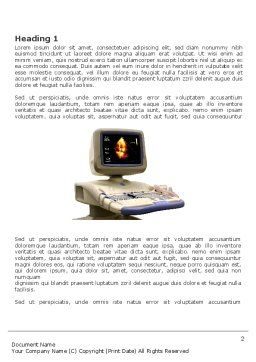 Ultrasound Word Template, First Inner Page, 03741, Medical — PoweredTemplate.com
