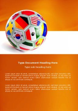 World Cup Word Template, Cover Page, 03743, Sports — PoweredTemplate.com
