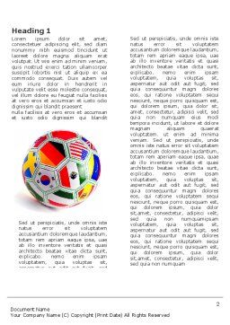World Cup Word Template, First Inner Page, 03743, Sports — PoweredTemplate.com