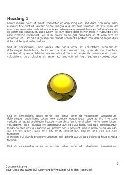 Yellow Ball Word Template, First Inner Page, 03747, Business Concepts — PoweredTemplate.com
