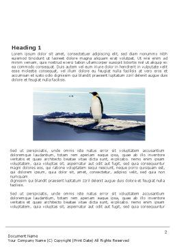 Penguin Word Template First Inner Page