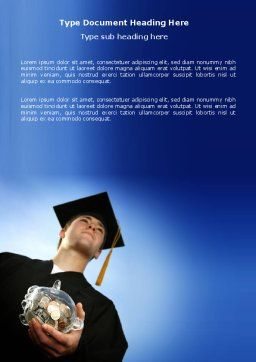 Paid Education Word Template, Cover Page, 03753, People — PoweredTemplate.com