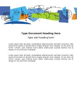 Information Range Word Template, Cover Page, 03755, Telecommunication — PoweredTemplate.com