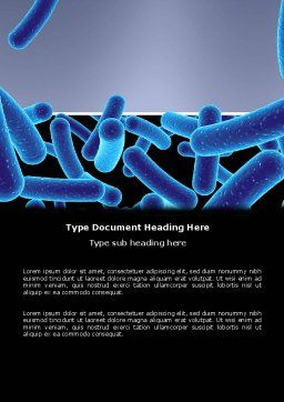 Bacillus Word Template, Cover Page, 03757, Medical — PoweredTemplate.com