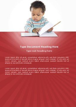 Kid Learning Word Template, Cover Page, 03759, Education & Training — PoweredTemplate.com