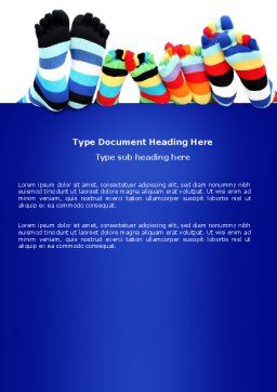 Rainbow Socks Word Template, Cover Page, 03760, General — PoweredTemplate.com