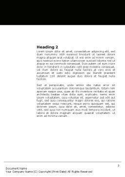 Reading Student Word Template, Second Inner Page, 03762, Education & Training — PoweredTemplate.com