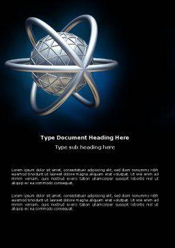 Atom Model Word Template, Cover Page, 03763, 3D — PoweredTemplate.com