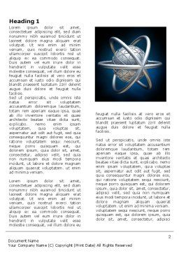 Atom Model Word Template, First Inner Page, 03763, 3D — PoweredTemplate.com