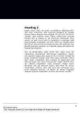 Atom Model Word Template, Second Inner Page, 03763, 3D — PoweredTemplate.com